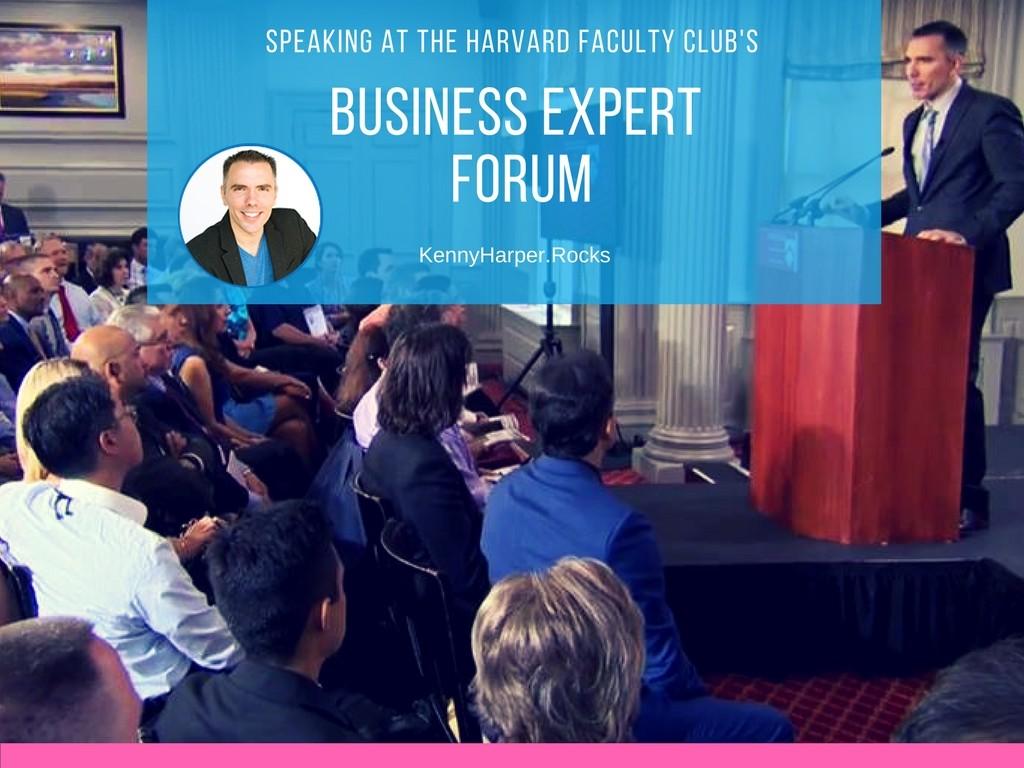 Speaking at Harvard Faculty Club's Business Expert Forum