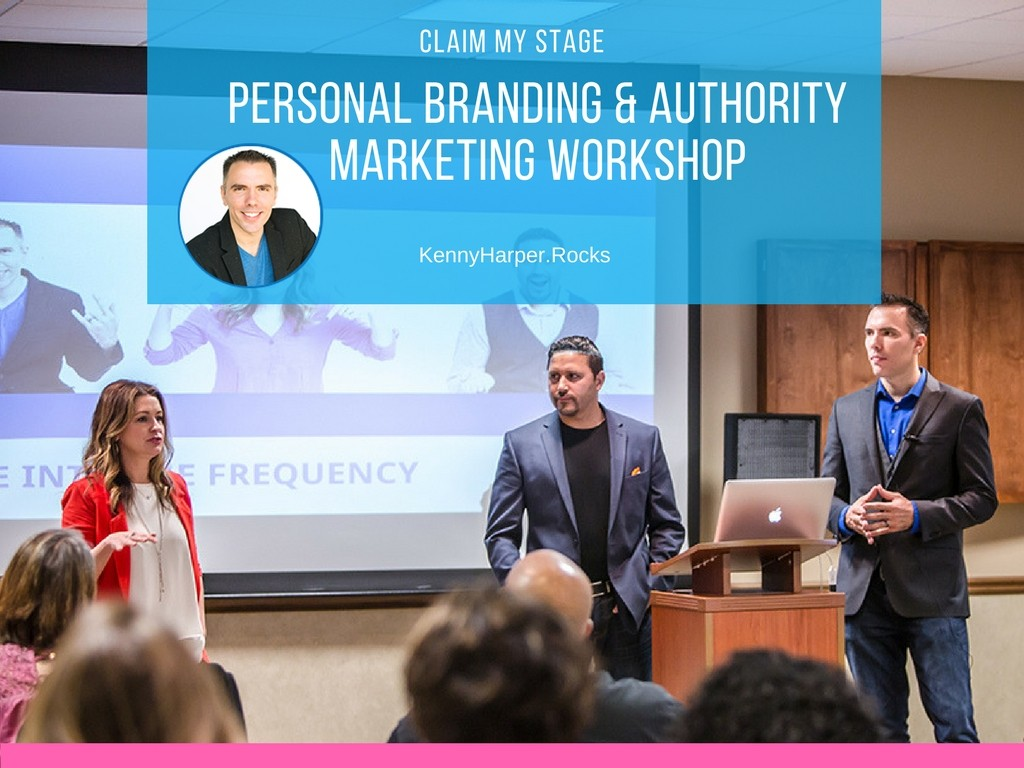 claim my stage personal branding and authority marketing workshop