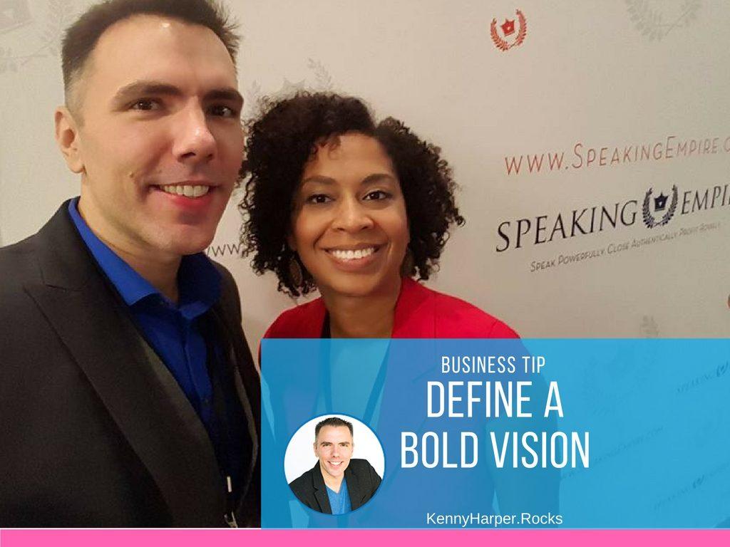 Business tip define a bold vision
